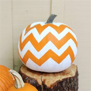 Chevron painted pumpkin