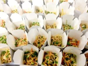 Asian takeaway style catering