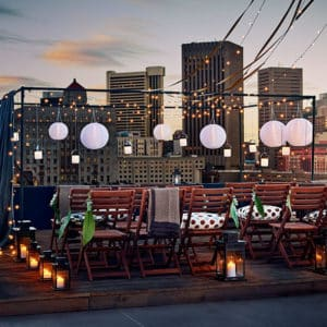 Rooftop event venue