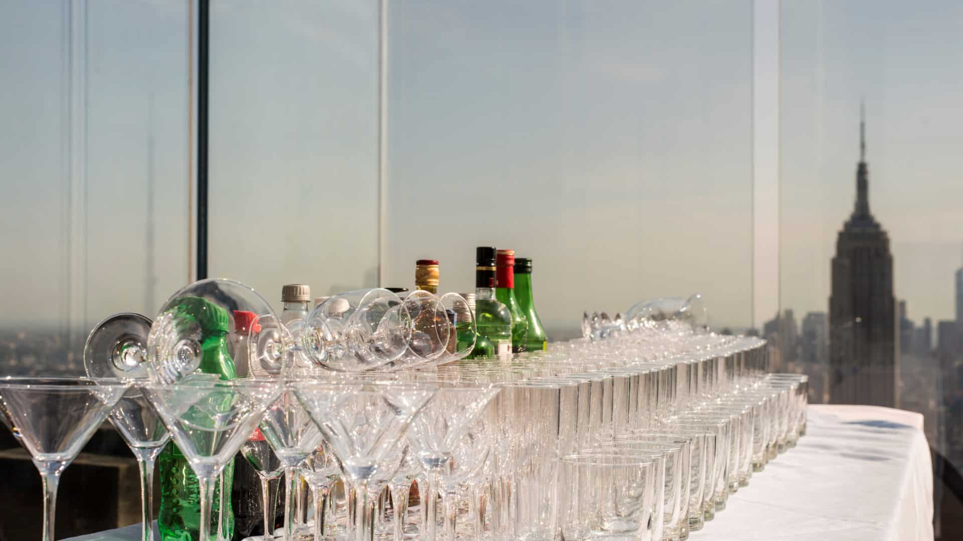 Bar with view of Empire State Building
