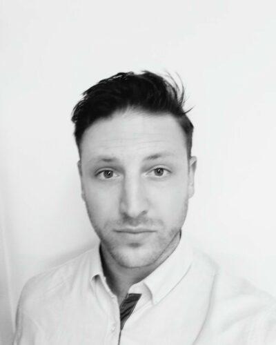Chef Justin Schwartz Headshot, Black & White