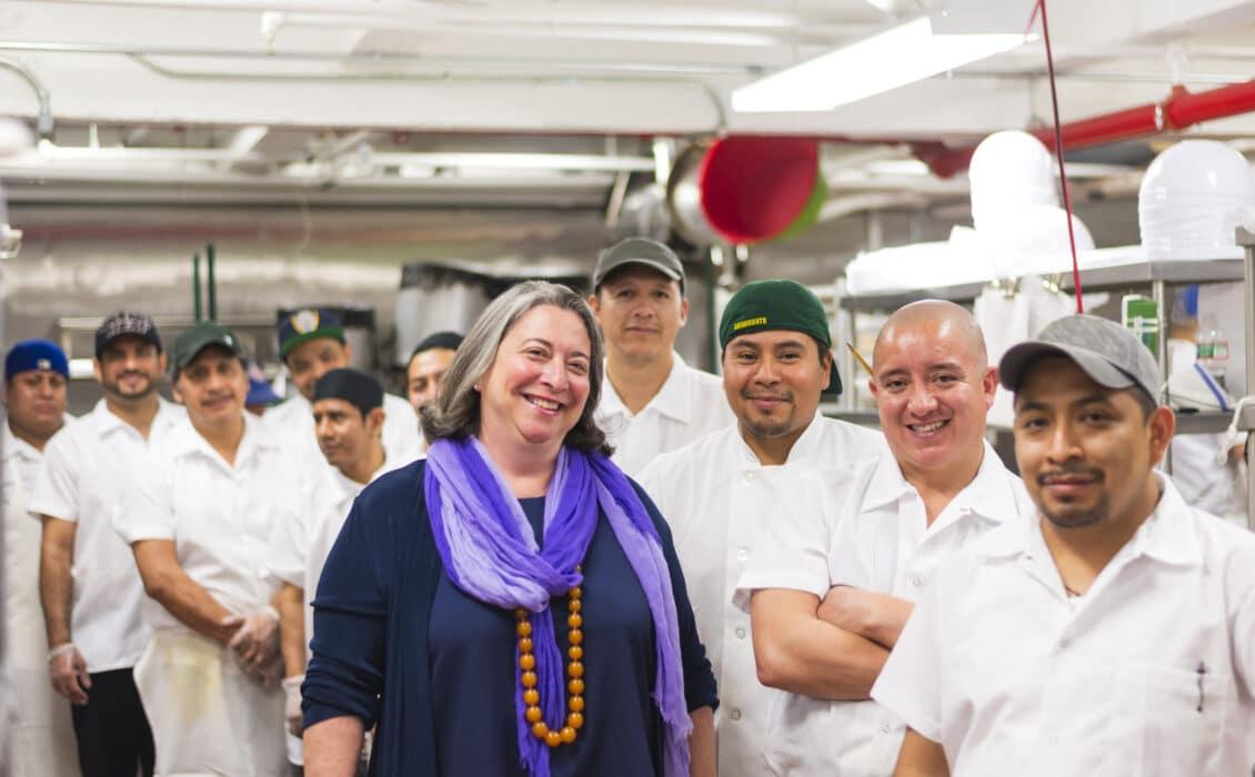 Deborah Miller and the Kitchen Team