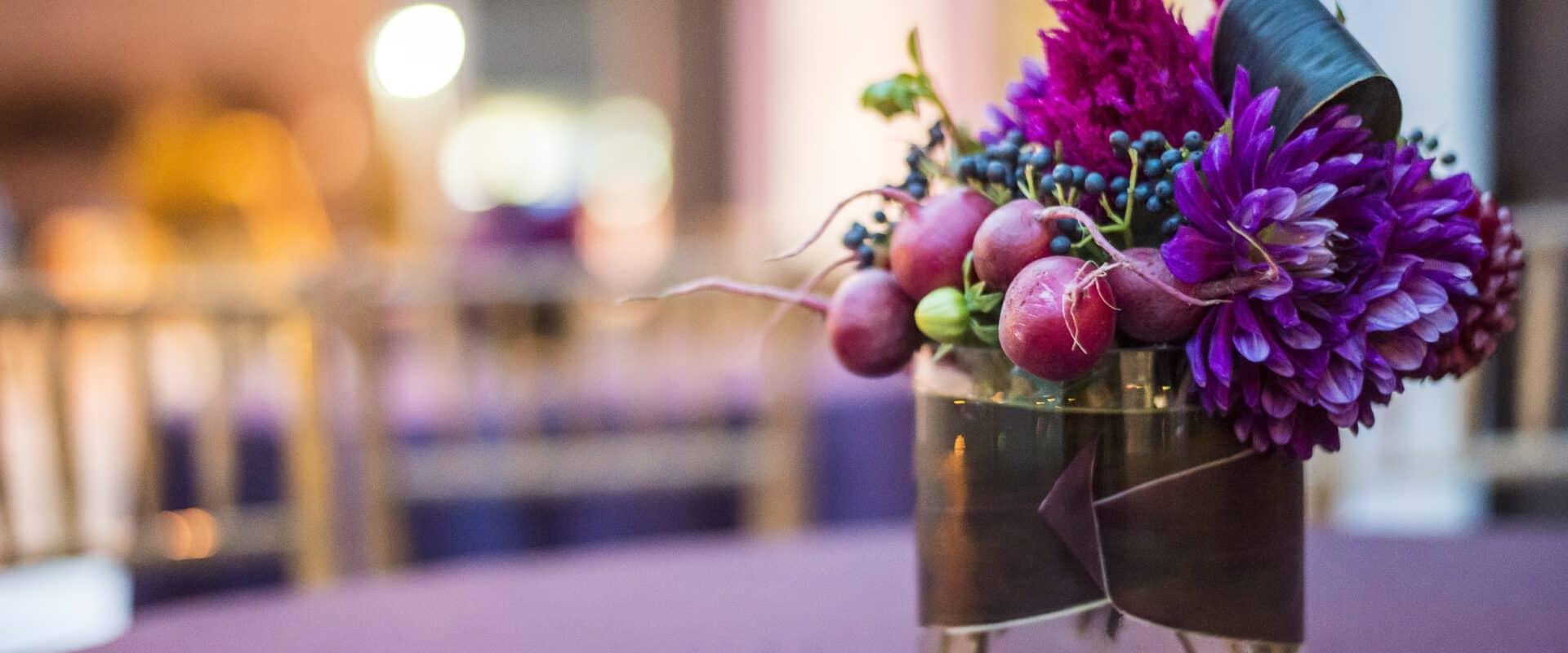 Purple and Magenta Flower Arrangement