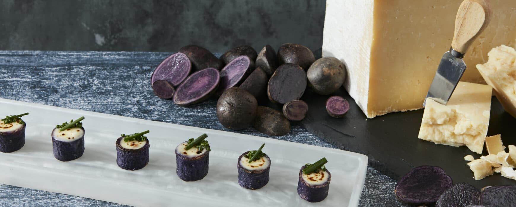Loaded Purple Potato Cups