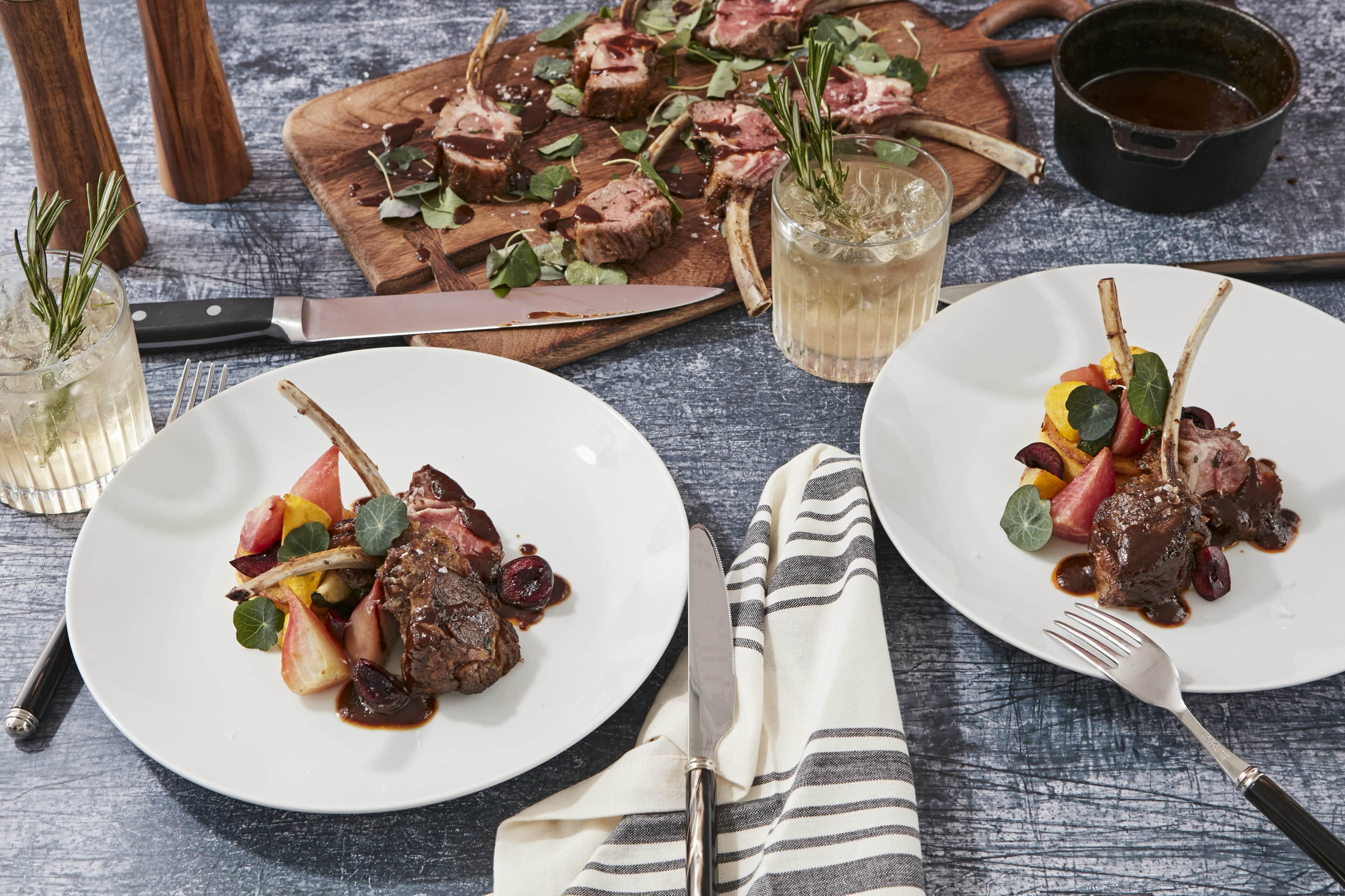 Main Dish - Rack of Lamb, Seasonal Vegetables