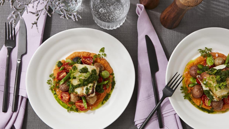 Cod with Seasonal Vegetables