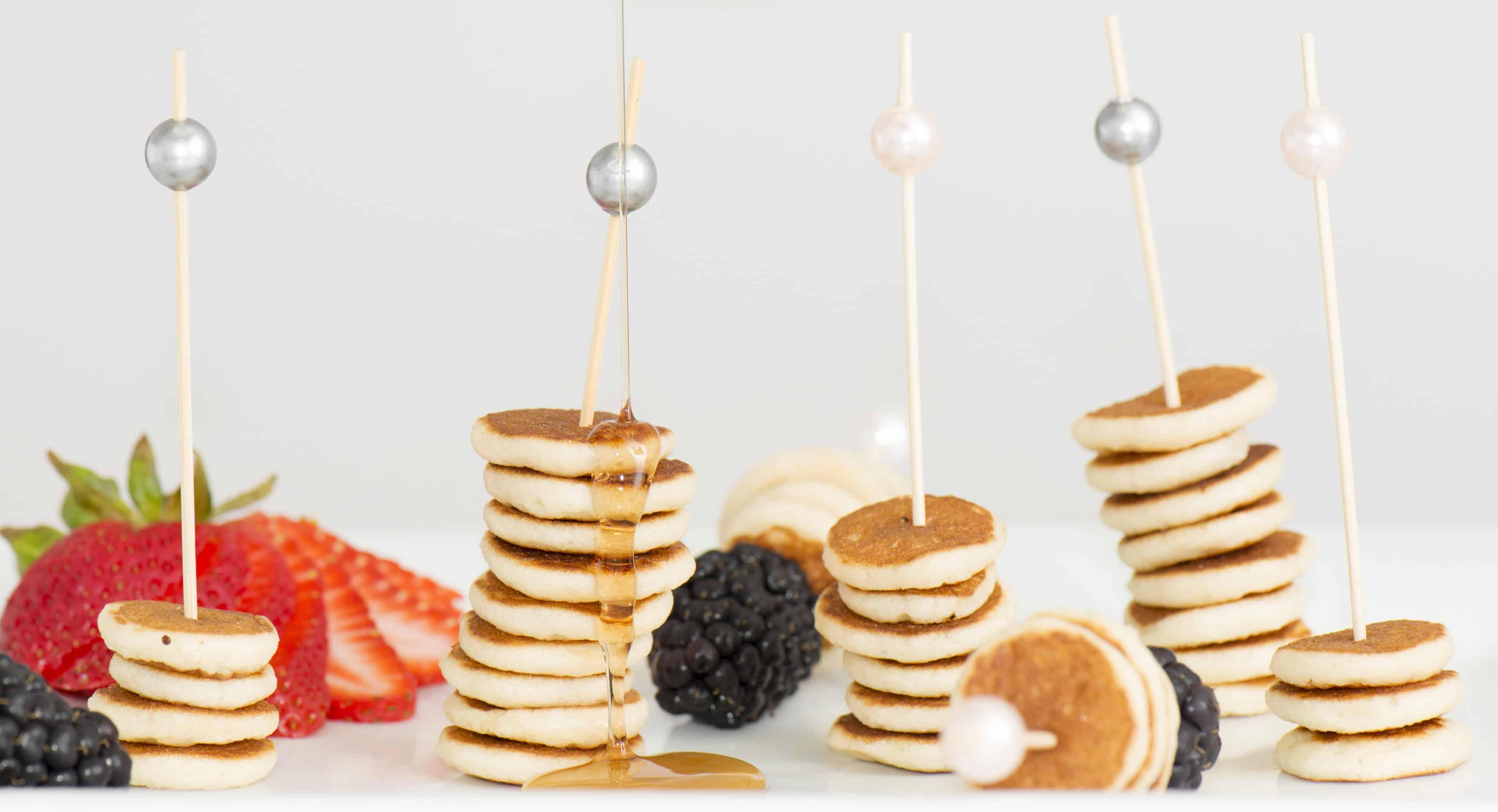Mini stack of pancakes