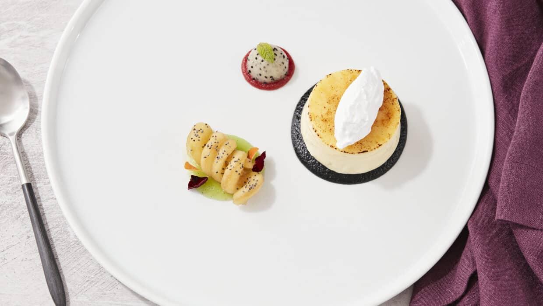 Plated Dessert - Crème Brûlée, Apples