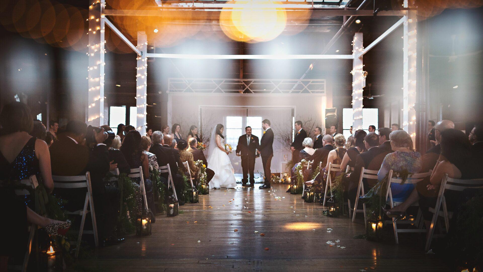 Magical wedding ceremony