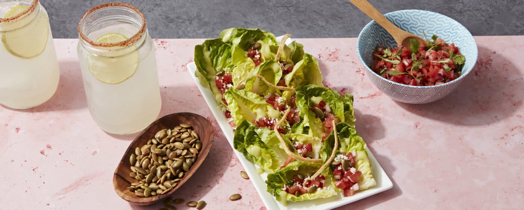 Southwestern Salad, pico de gallo, pepita, and margaritas