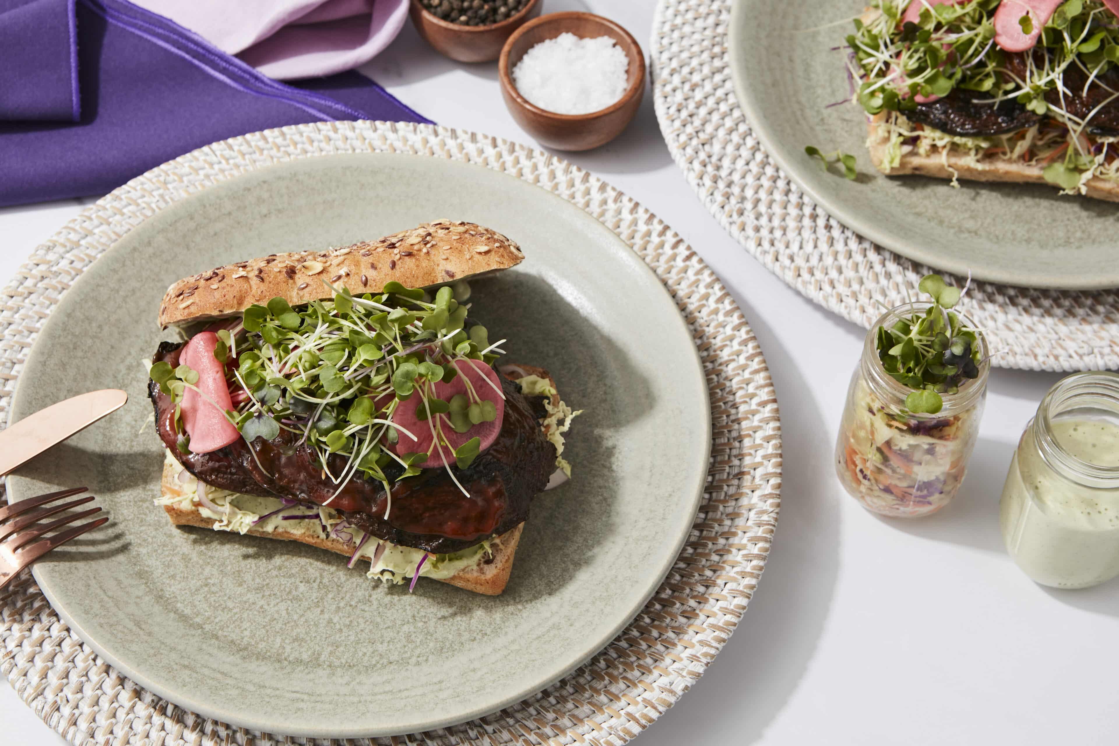 BBQ Mushroom Sandwich