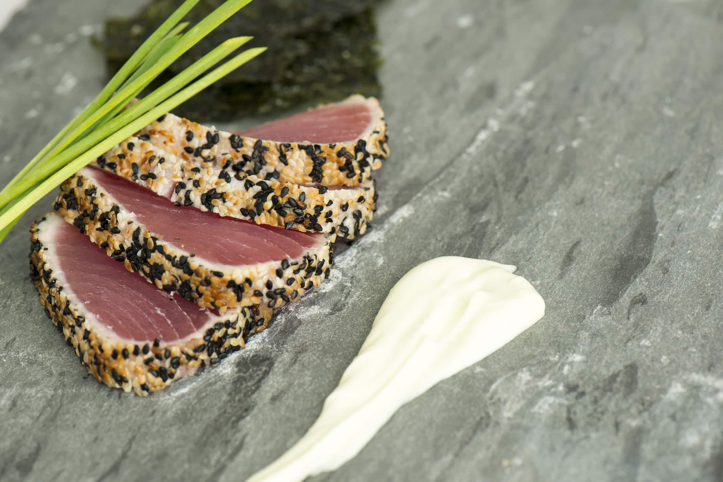 Sesame seed crusted tuna